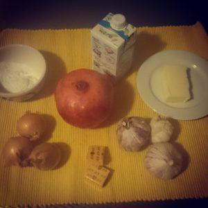 Gepofte knoflooksoep ingredienten
