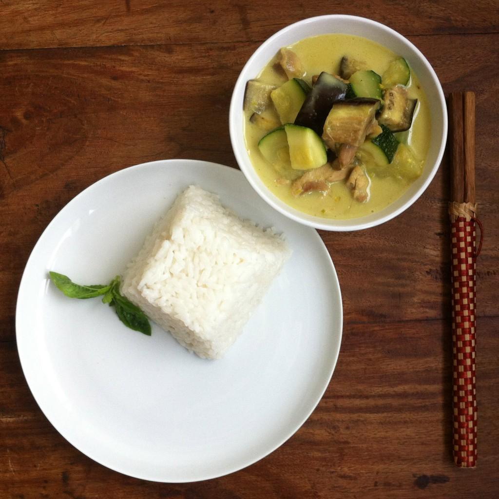 Thaise curry met kip