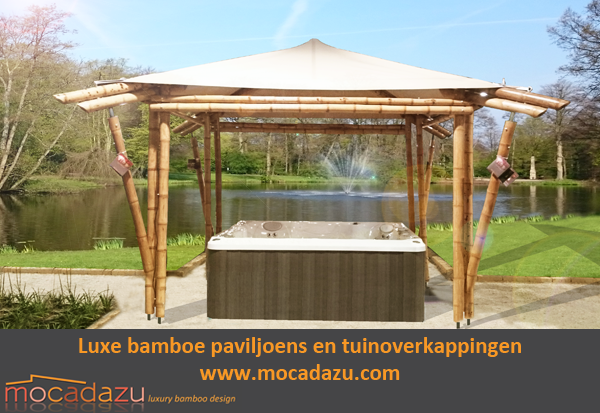 Mocadazu luxe bamboe paviljoens en tuinoverkappingen