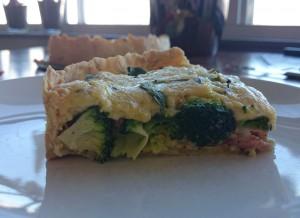 hartige taart broccoli spekjes