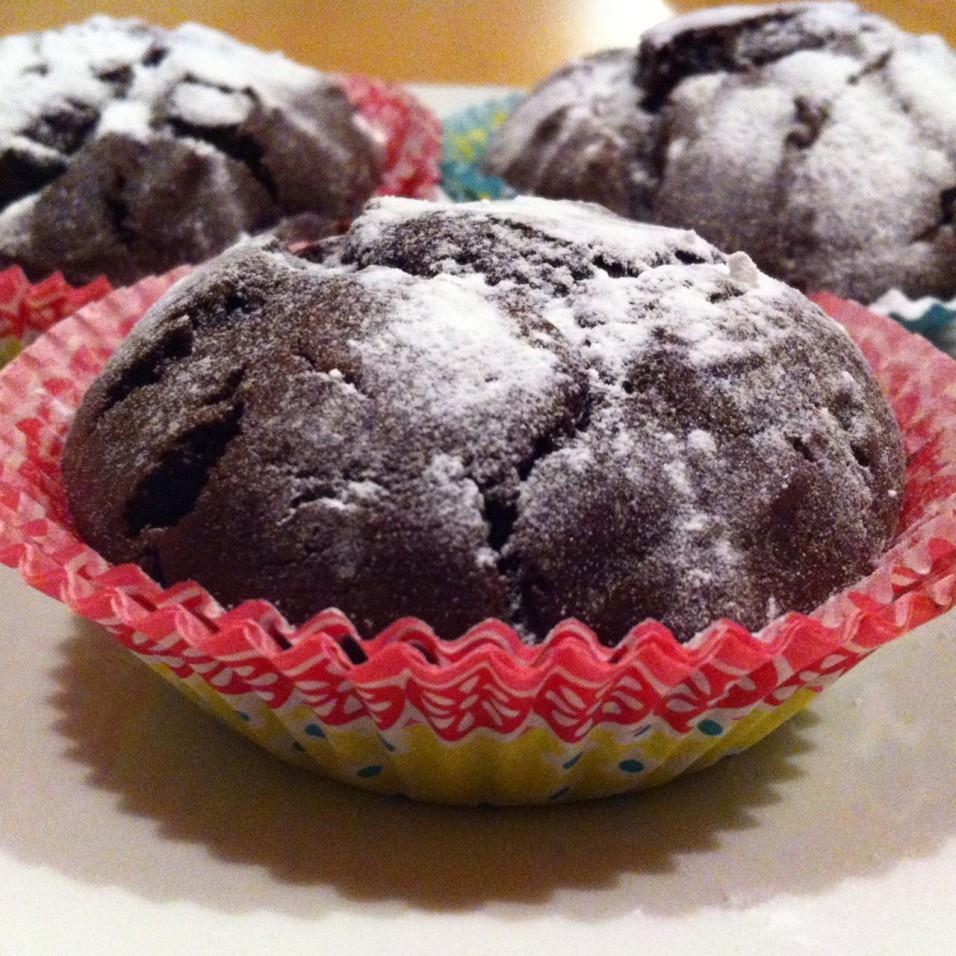 Chocoladecakejes met Teffmeel