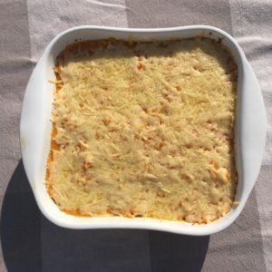 Ovenschotel met Pompoen, Spinazie en (vega)gehakt