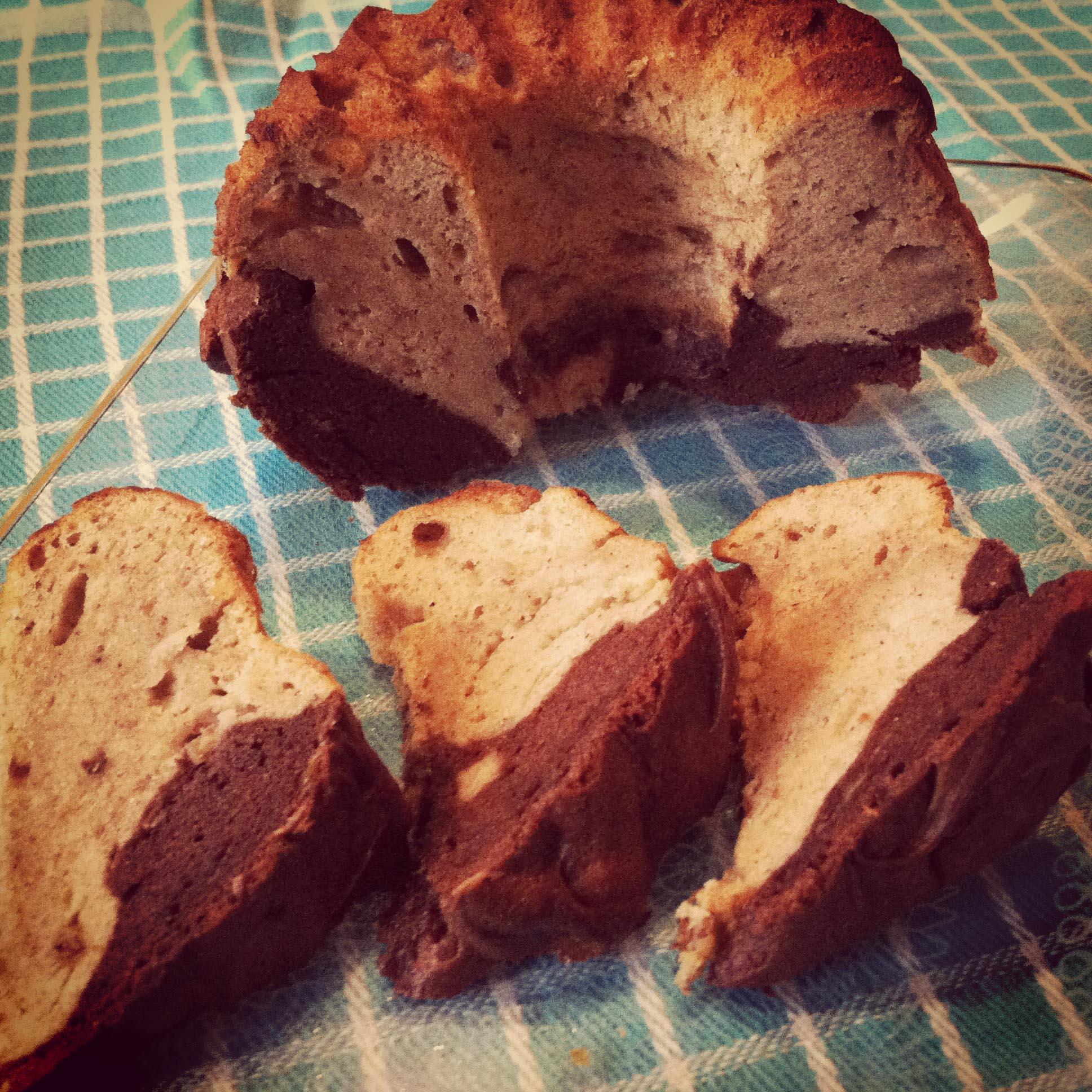 Valentijnsspecial: Gemarmerde Banaan-Chocolade Cake