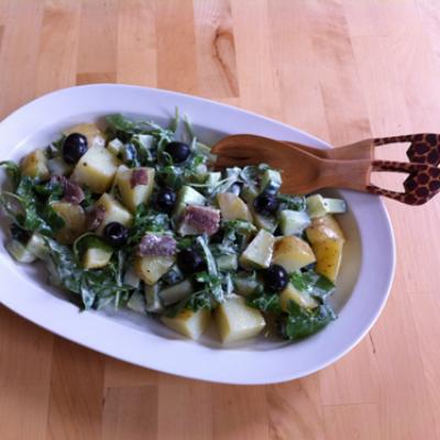 Een snelle Aardappelsalade met Ansjovis