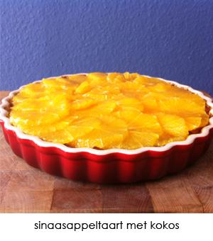 sinaasappeltaart met kokos