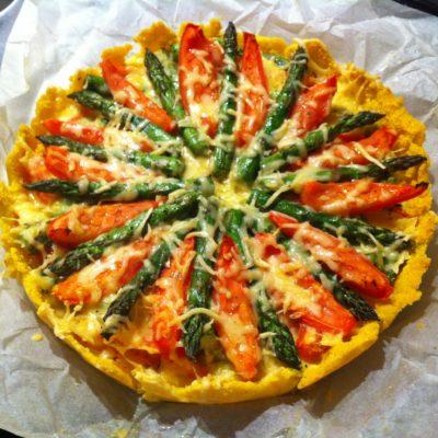 Hartige taart met Tomaat en Groene Asperge